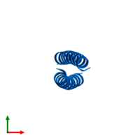 PDB 2zta contains 2 copies of General control transcription factor GCN4 in assembly 1. This protein is highlighted and viewed from the top.