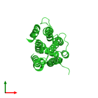 PDB 3b5o coloured by chain and viewed from the top.