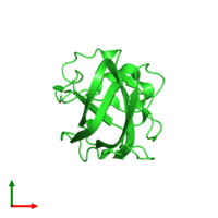 PDB 3bn6 coloured by chain and viewed from the top.