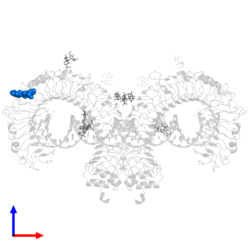 <div class='caption-body'>PDB entry 3ciy contains 1 copy of alpha-D-mannopyranose-(1-4)-2-acetamido-2-deoxy-beta-D-glucopyranose-(1-4)-2-acetamido-2-deoxy-beta-D-glucopyranose in assembly 1. This small molecule is highlighted and viewed from the front.</div>