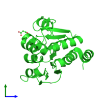 PDB 3cza coloured by chain and viewed from the front.