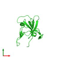 PDB 3ers coloured by chain and viewed from the top.