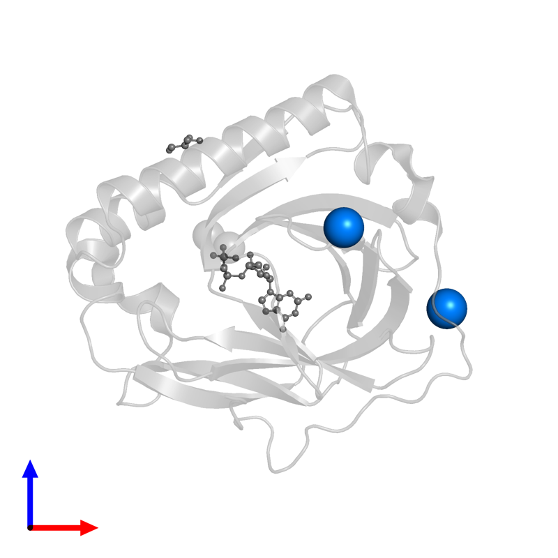 <div class='caption-body'>PDB entry 3exm contains 2 copies of SODIUM ION in assembly 1. This small molecule is highlighted and viewed from the front.</div>