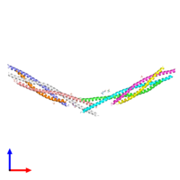 PDB 3hd7 coloured by chain and viewed from the front.