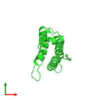PDB 3hmf coloured by chain and viewed from the top.