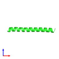 PDB 3hro coloured by chain and viewed from the front.