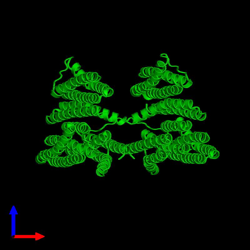 <div class='caption-body'><ul class ='image_legend_ul'>The deposited structure of PDB entry 3l8r coloured by chemically distinct molecules and viewed from the side. The entry contains: <li class ='image_legend_li'>8 copies of Putative PTS system, cellobiose-specific IIA component</li><li class ='image_legend_li'>There are no non-polymeric molecules</li></ul></li></ul></li></div>