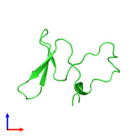 PDB 3le4 coloured by chain and viewed from the front.