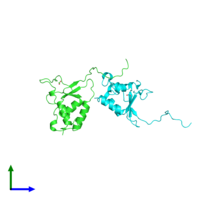 PDB 3lmn coloured by chain and viewed from the front.