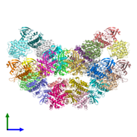 PDB 3my0 coloured by chain and viewed from the front.