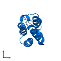 PDB 3nxb contains 1 copy of Cat eye syndrome critical region protein 2 in assembly 2. This protein is highlighted and viewed from the top.