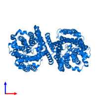 PDB 3ob6 contains 2 copies of Arginine/agmatine antiporter in assembly 1. This protein is highlighted and viewed from the side.