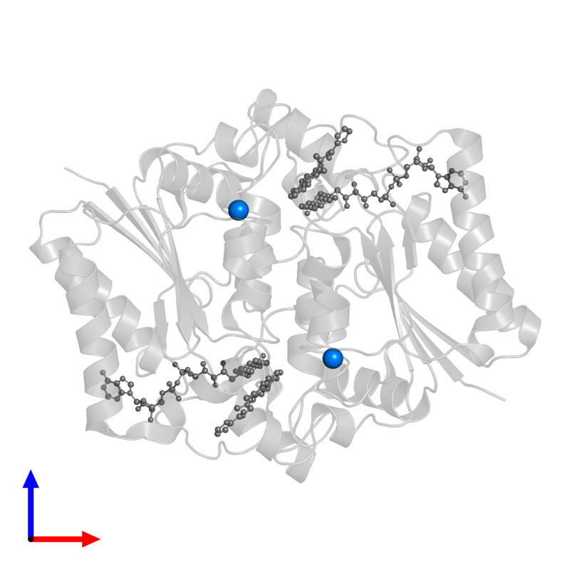 <div class='caption-body'>PDB entry 3ox3 contains 2 copies of ZINC ION in assembly 1. This small molecule is highlighted and viewed from the front.</div>