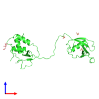 PDB 3ppa coloured by chain and viewed from the front.