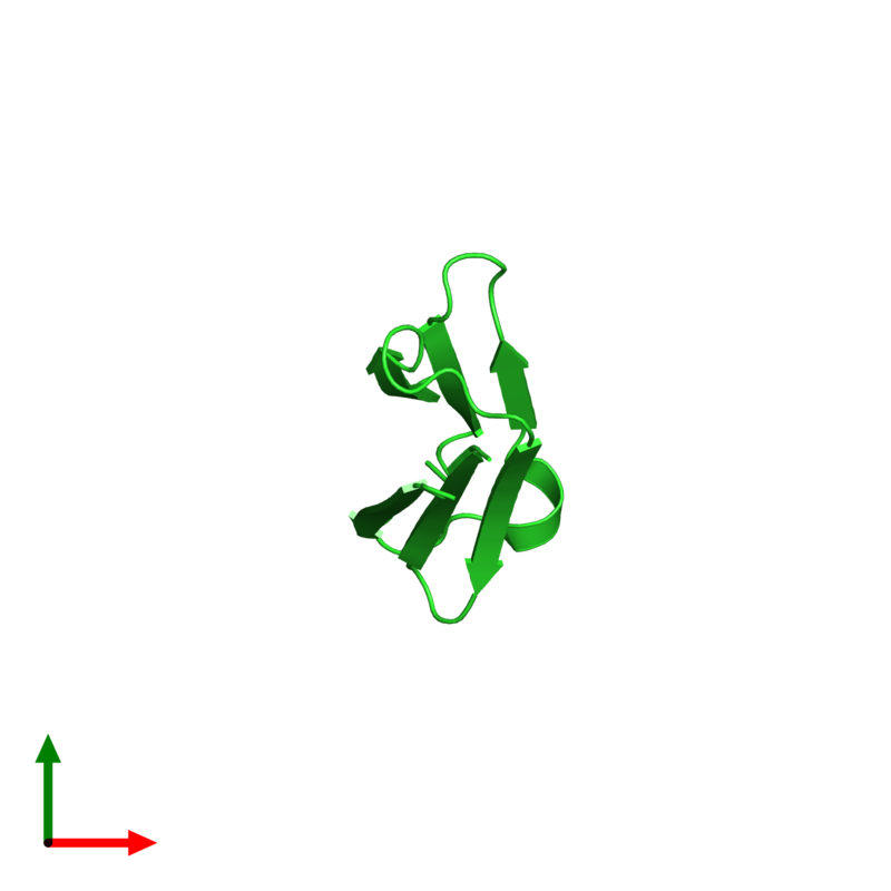 <div class='caption-body'><ul class ='image_legend_ul'>The deposited structure of PDB entry 3q9p coloured by chain and viewed from the top. The entry contains: <li class ='image_legend_li'>1 copy of Heat shock protein beta-1</li><li class ='image_legend_li'>There are no non-polymeric molecules</li></ul></li></ul></li></div>