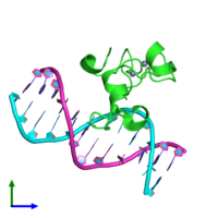 PDB 3qmh coloured by chain and viewed from the front.