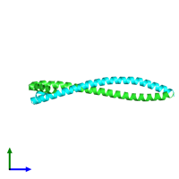 PDB 3s9g coloured by chain and viewed from the side.