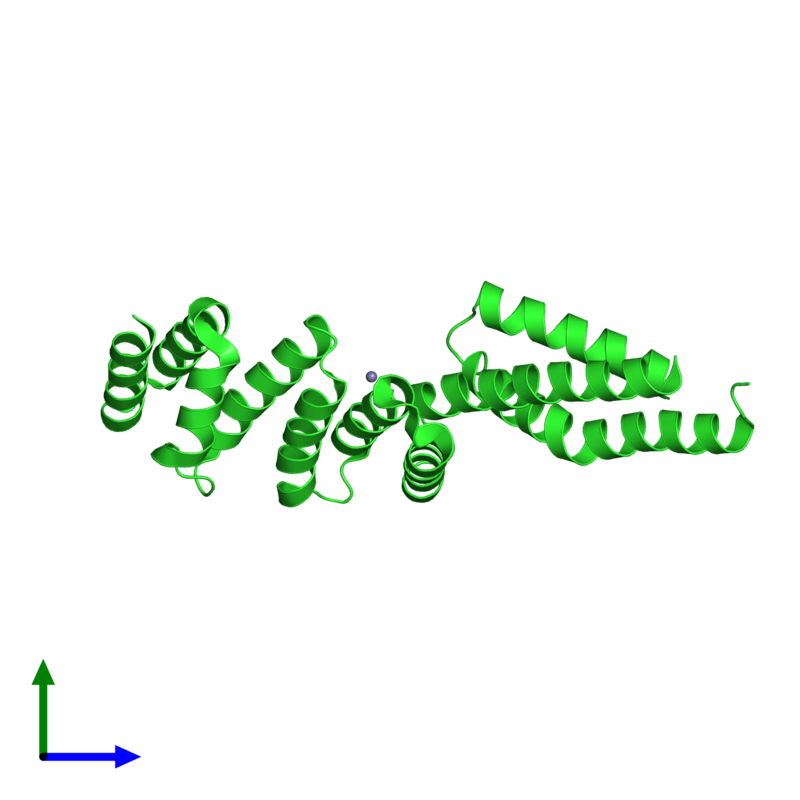 <div class='caption-body'><ul class ='image_legend_ul'> Monomeric assembly 1 of PDB entry 3urz coloured by chain and viewed from the side. This assembly contains:<li class ='image_legend_li'>One copy of Uncharacterized protein</li><li class ='image_legend_li'>2 copies of ZINC ION</li></ul></div>