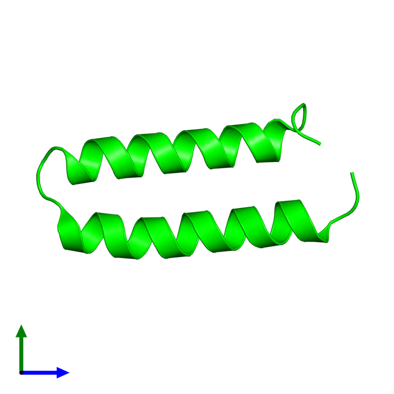 <div class='caption-body'><ul class ='image_legend_ul'> Monomeric assembly 1 of PDB entry 3v1a coloured by chemically distinct molecules and viewed from the front. This assembly contains:<li class ='image_legend_li'>One copy of Computational design, MID1-apo1</li></ul></div>