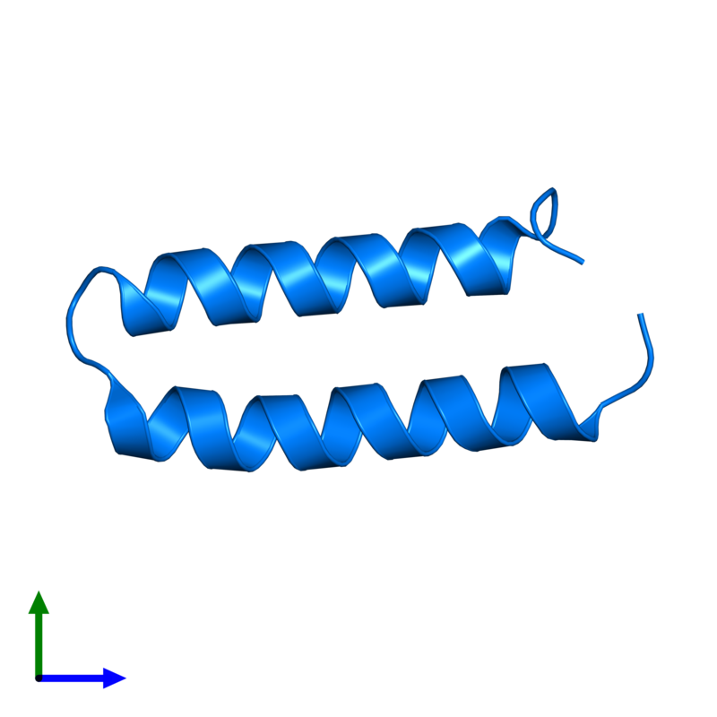 <div class='caption-body'>PDB entry 3v1a contains 1 copy of Computational design, MID1-apo1 in assembly 1. This protein is highlighted and viewed from the front.</div>