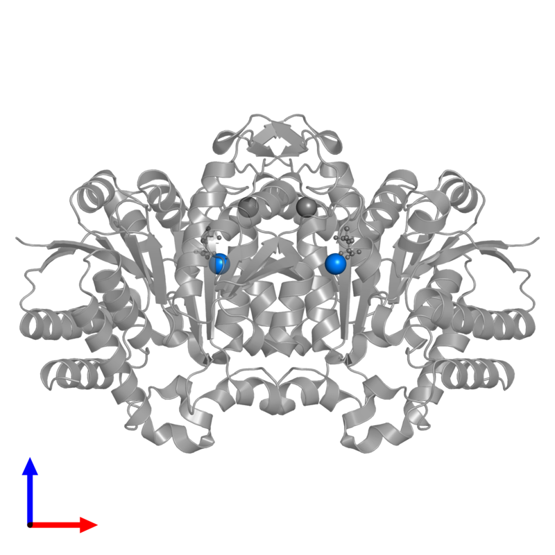 <div class='caption-body'>PDB entry 3vl3 contains 2 copies of CALCIUM ION in assembly 1. This small molecule is highlighted and viewed from the front.</div>
