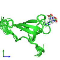 PDB 4a4h coloured by chain and viewed from the front.