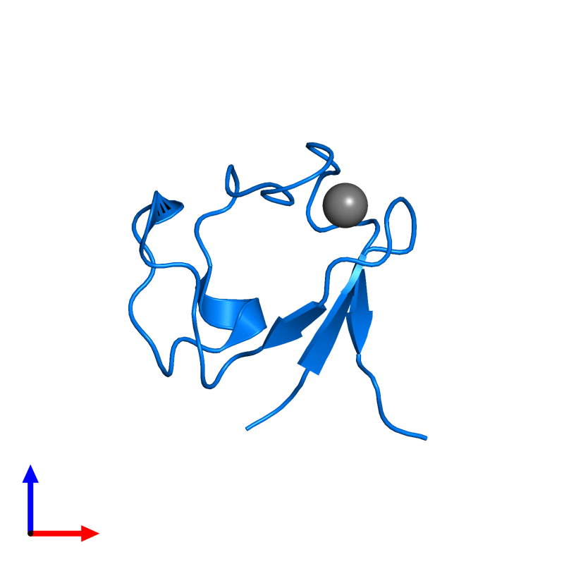 <div class='caption-body'>PDB entry 4ar6 contains 1 copy of Rubredoxin in assembly 1. This protein is highlighted and viewed from the front.</div>