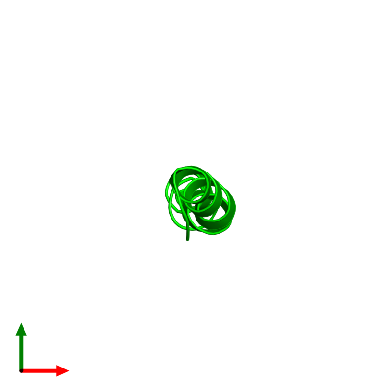 <div class='caption-body'><ul class ='image_legend_ul'> Monomeric assembly 1 of PDB entry 4b19 coloured by chemically distinct molecules and viewed from the top. This assembly contains:<li class ='image_legend_li'>One copy of PEPA1</li></ul></div>
