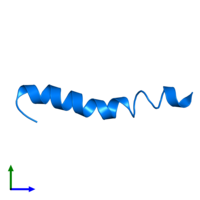 PDB 4b19 contains 1 copy of PEPA1 in assembly 1. This protein is highlighted and viewed from the front.