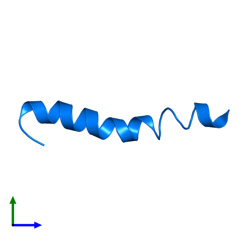 <div class='caption-body'>PDB entry 4b19 contains 1 copy of PEPA1 in assembly 1. This protein is highlighted and viewed from the front.</div>