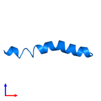 PDB 4b19 contains 1 copy of PEPA1 in assembly 1. This protein is highlighted and viewed from the side.