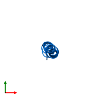 PDB 4b19 contains 1 copy of PEPA1 in assembly 1. This protein is highlighted and viewed from the top.