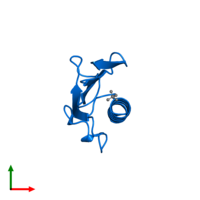 PDB 4bhr contains 1 copy of PilA4 domain-containing protein in assembly 2. This protein is highlighted and viewed from the top.