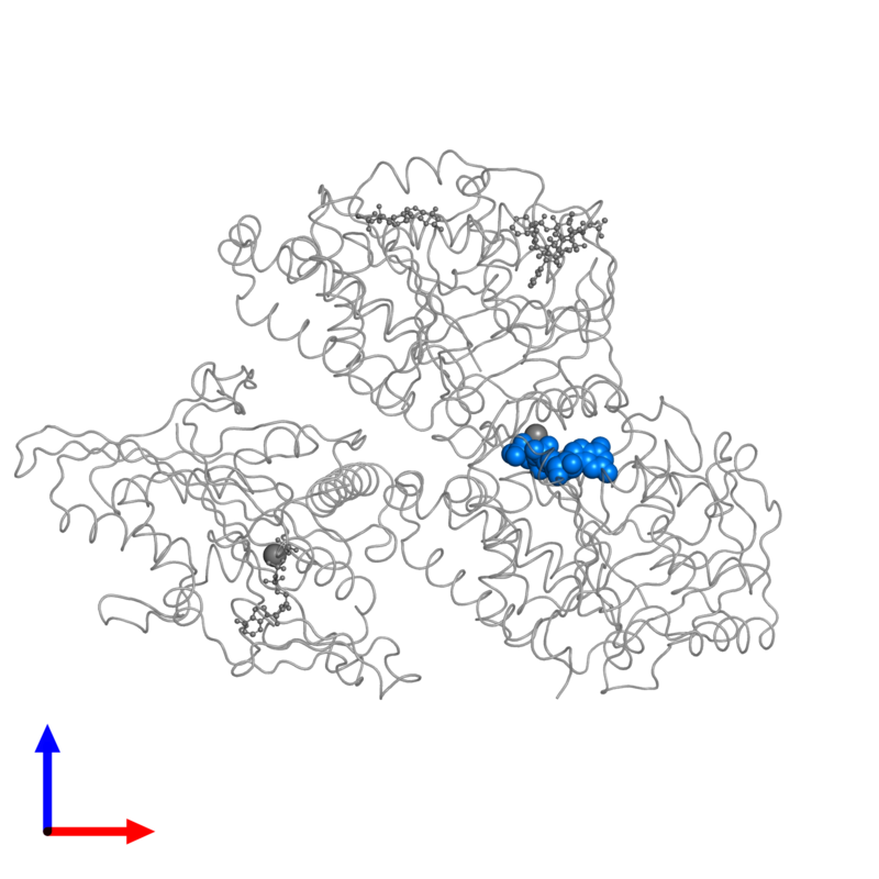 <div class='caption-body'>PDB entry 4ck7 contains 1 copy of GUANOSINE-5'-TRIPHOSPHATE in assembly 1. This small molecule is highlighted and viewed from the front.</div>