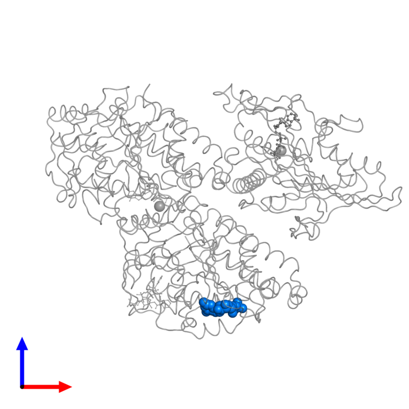 <div class='caption-body'>PDB entry 4ck7 contains 1 copy of GUANOSINE-5'-DIPHOSPHATE in assembly 1. This small molecule is highlighted and viewed from the front.</div>