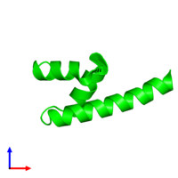 Monomeric assembly 1 of PDB entry 4g3o coloured by chemically distinct molecules and viewed from the front.