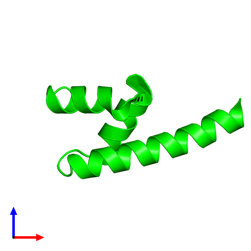 <div class='caption-body'><ul class ='image_legend_ul'> Monomeric assembly 1 of PDB entry 4g3o coloured by chemically distinct molecules and viewed from the front. This assembly contains:<li class ='image_legend_li'>One copy of E3 ubiquitin-protein ligase AMFR</li></ul></div>