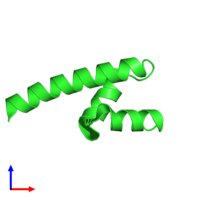 PDB 4g3o coloured by chain and viewed from the front.