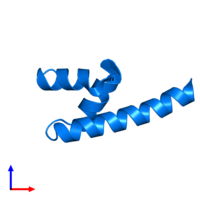 PDB 4g3o contains 1 copy of E3 ubiquitin-protein ligase AMFR in assembly 1. This protein is highlighted and viewed from the front.