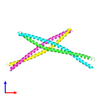PDB 4h22 coloured by chain and viewed from the front.