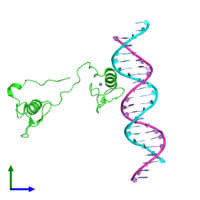 PDB 4hc9 coloured by chain and viewed from the front.