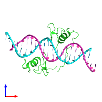 PDB 4hca coloured by chain and viewed from the front.