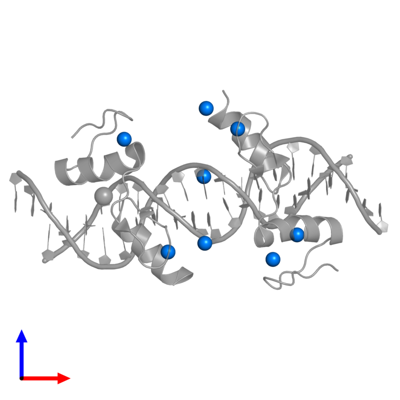 <div class='caption-body'>PDB entry 4is1 contains 8 copies of ZINC ION in assembly 1. This small molecule is highlighted and viewed from the front.</div>