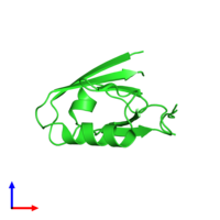 PDB 4q2q coloured by chain and viewed from the side.