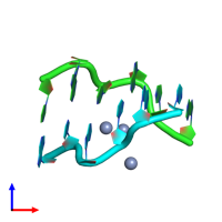 PDB 4r15 coloured by chain and viewed from the front.