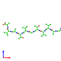 PDB 4ril coloured by chain and viewed from the front.
