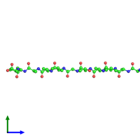PDB 4ril coloured by chain and viewed from the side.