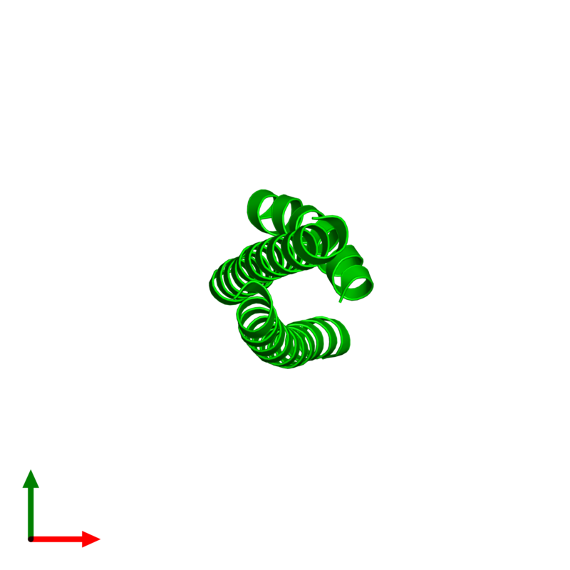 <div class='caption-body'><ul class ='image_legend_ul'> Trimeric assembly 1 of PDB entry 4s1x coloured by chemically distinct molecules and viewed from the top. This assembly contains:<li class ='image_legend_li'>3 copies of Truncated hemagglutinin</li></ul></div>