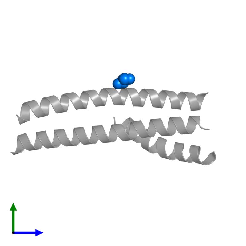 <div class='caption-body'>PDB entry 4s1x contains 1 copy of GLYCEROL in assembly 2. This small molecule is highlighted and viewed from the front.</div>