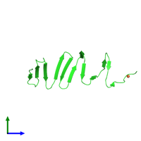 PDB 4s36 coloured by chain and viewed from the side.